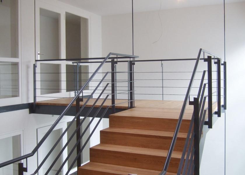 Studentenwohnheim-Treppe