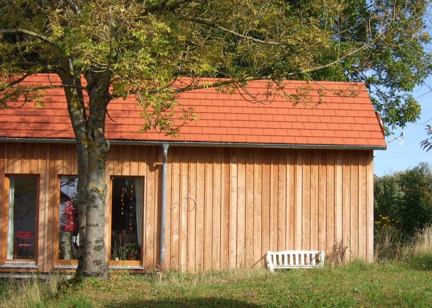 Holzhaus-Ostansicht