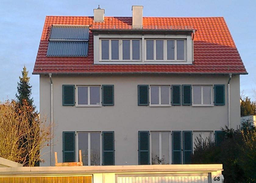 Fassaden- und Dachdämmung