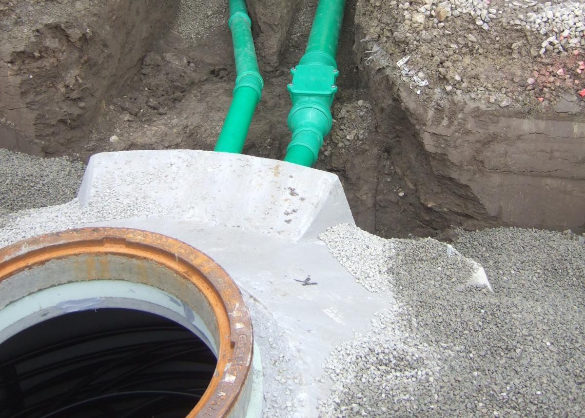 Leitungen für Eisspeicher
