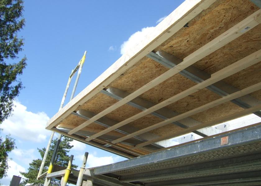 Unterkonstruktion Vordach